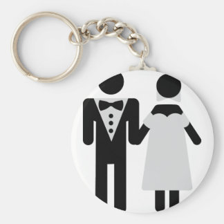 bridegroom and bride wedding icon basic round button key ring
