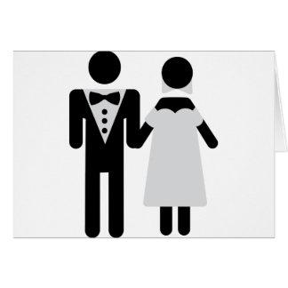 bridegroom and bride wedding icon greeting cards