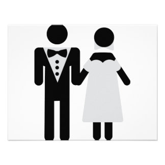 bridegroom and bride wedding icon personalized announcements
