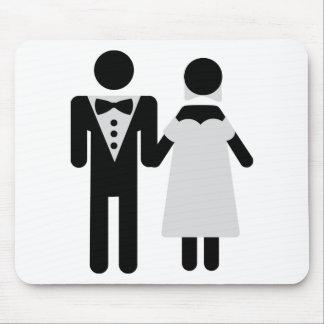 bridegroom and bride wedding icon mouse pad