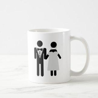 bridegroom and bride wedding icon mug