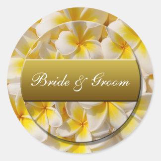 bridegroom round sticker