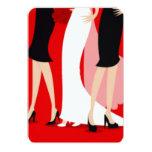 Brides and Bridesmaids 9 Cm X 13 Cm Invitation Card