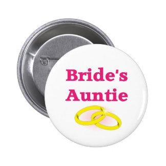 Bride's Aunt / Bride's Auntie 6 Cm Round Badge