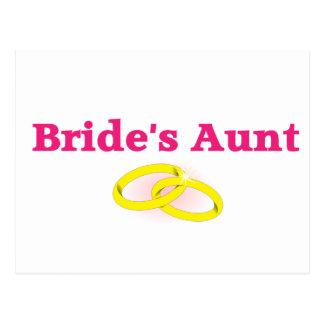 Bride's Aunt / Bride's Auntie Postcard