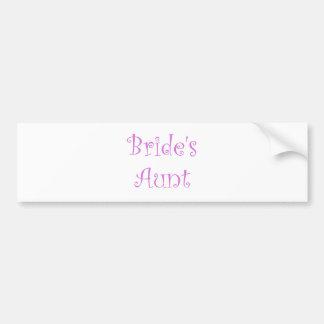 Bride's Aunt Bumper Stickers