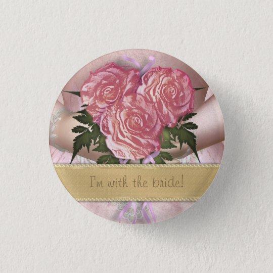 Brides Bouquet (pink) Custom Wedding 3 Cm Round