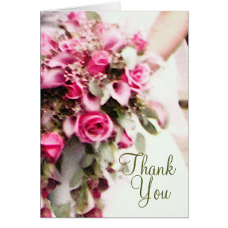 Bride's Bouquet Thank You Card