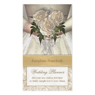Brides Bouquet (white) Wedding Planner Business Card Template