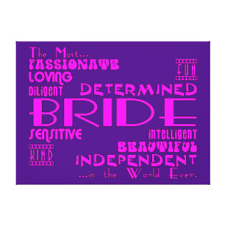 Brides Bridal Showers Wedding Parties Qualities Gallery Wrapped Canvas