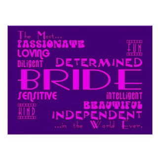 Brides Bridal Showers Wedding Parties Qualities Posters
