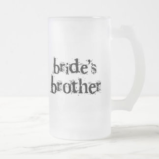 Bride's Brother Black Text Coffee Mugs