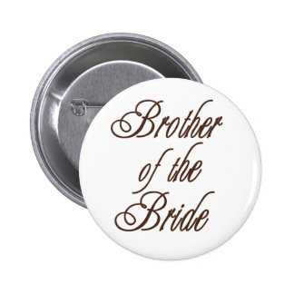 Bride's Brother Classy Browns 6 Cm Round Badge