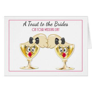 Brides Champagne Toast, Lesbian Wedding Congrats Card