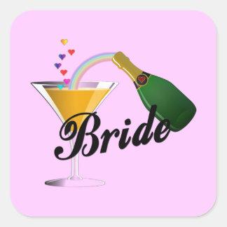 Brides Champagne Toast Square Sticker