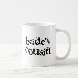 Bride's Cousin Black Text Classic White Coffee Mug