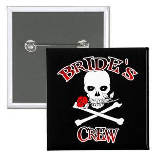 Bride's Crew 15 Cm Square Badge