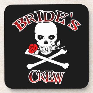 Bride's Crew Beverage Coasters