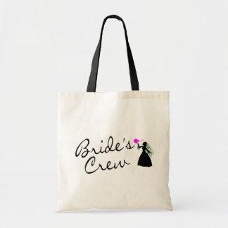 Brides Crew (Bride Blk) Budget Tote Bag