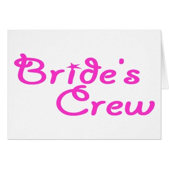 Brides Crew Card