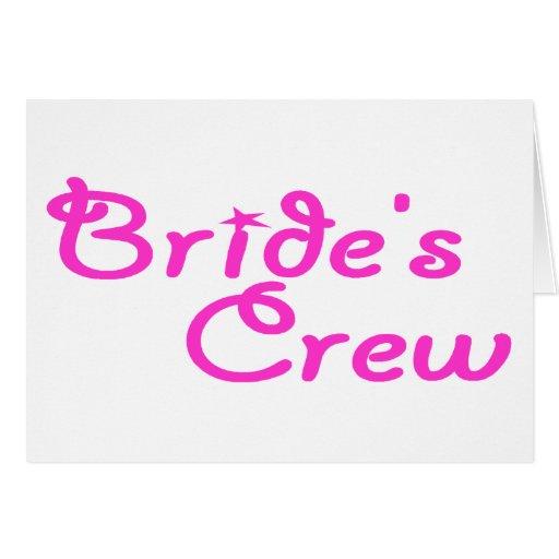 Brides Crew Greeting Card
