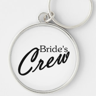 Brides Crew Silver-Colored Round Key Ring