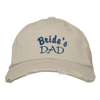 Bride's Dad Embroidered Ball Cap Baseball Cap