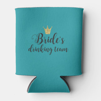 Bride's Drinking Team Bachelorette Party Favor Can Cooler