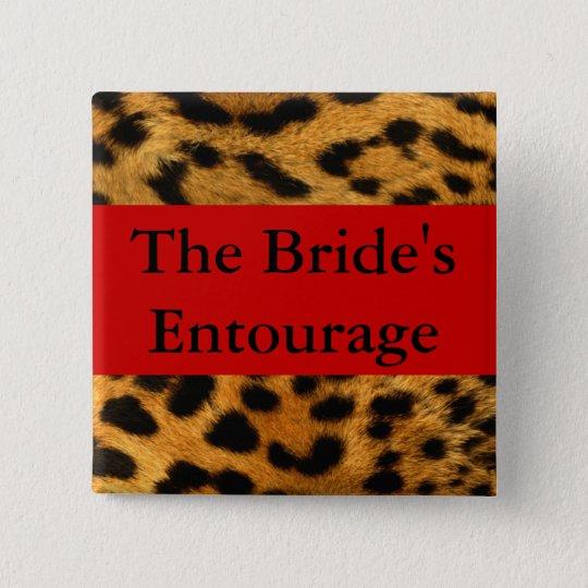 Brides Entourage 15 Cm Square Badge