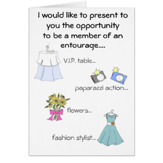 brides entourage card