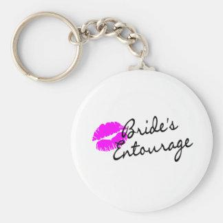 Brides Entourage (Kiss) Basic Round Button Key Ring
