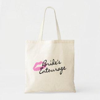 Brides Entourage Lips Budget Tote Bag