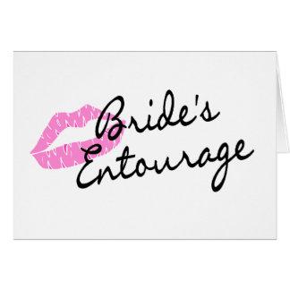 Brides Entourage Lips Greeting Card