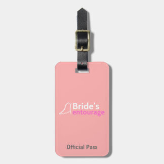Bride's Entourage with Angel Wings Luggage Tag