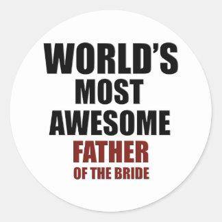 Bride's Father Design Round Sticker