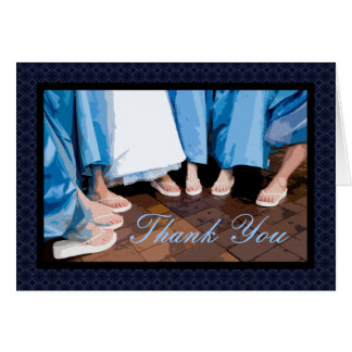 Bride's Feet Bridesmaid Thank You Card