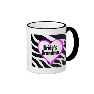 Brides Grandma (Heart Zebra Print) Ringer Mug