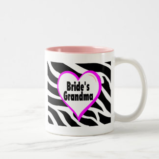 Brides Grandma (Heart Zebra Print) Two-Tone Mug