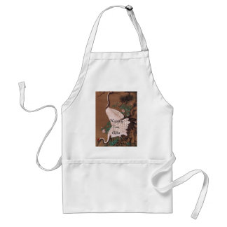 Bride's Japanese Cranes Apron Happily Ever After