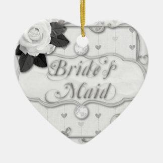 bride's maid bridesmaid christmas ornament