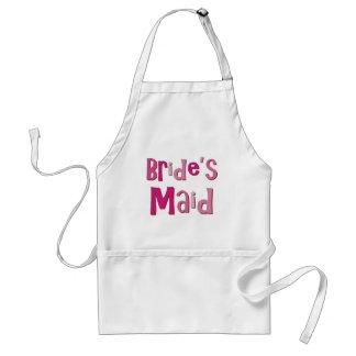 Brides Maid Pink Brown Standard Apron