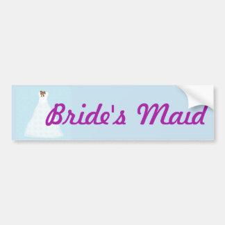 Bride's Maid wedding sticker