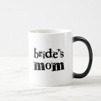 Bride's Mom Black Text 11 Oz Magic Heat Color-Changing Coffee Mug