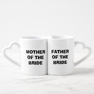 Bride's Mother/Father Nesting Mug Set Lovers Mug