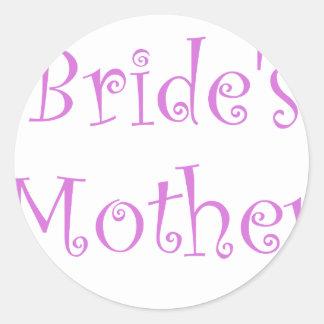Bride's Mother Round Stickers
