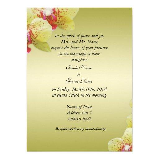 Bride's parents invitation personalized invitations