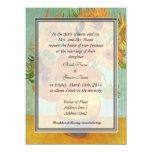 bride's parents invitation, van Gogh sunflowers