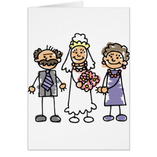 Brides Parents Wedding Day Before Ceremony Card
