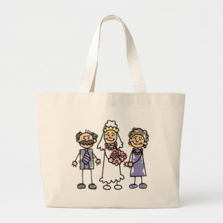 Brides Parents Wedding Day Before Ceremony Jumbo Tote Bag