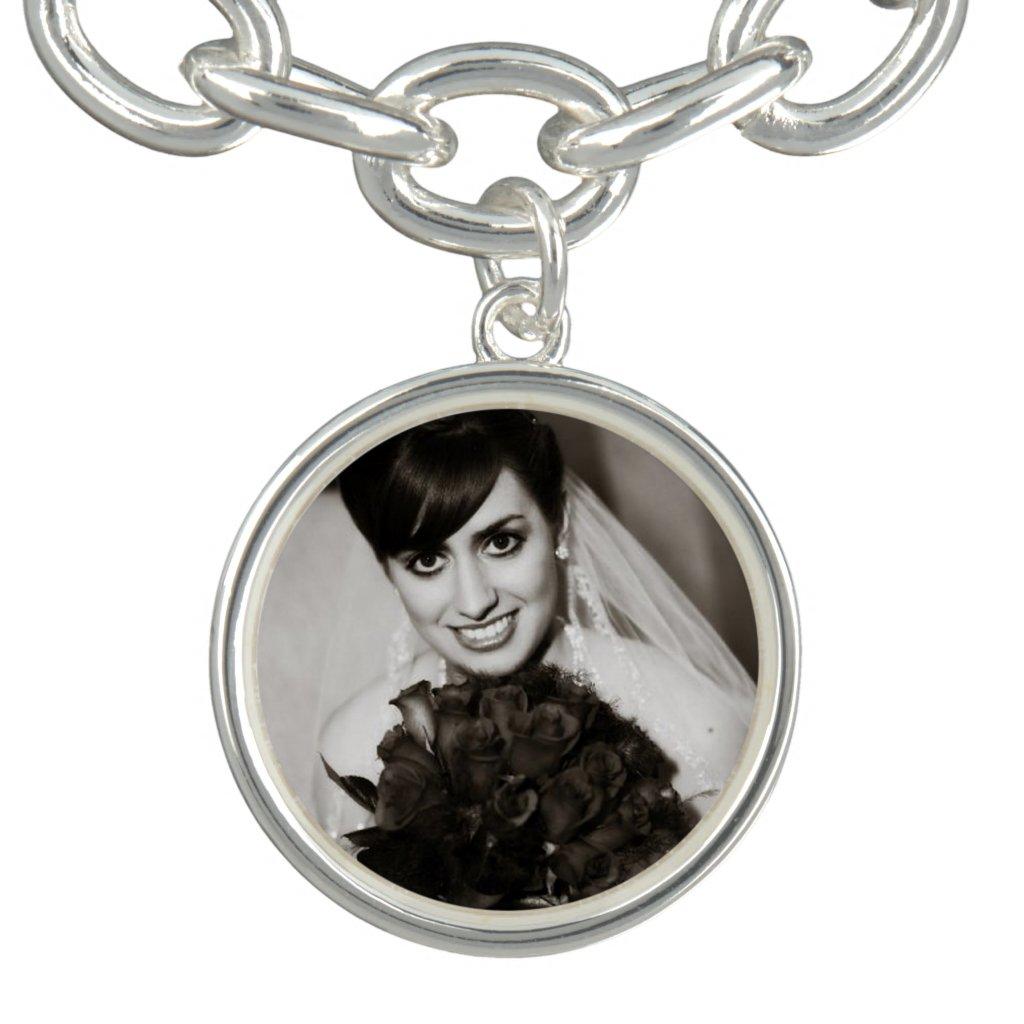 Bride's Photo Charm Bracelet